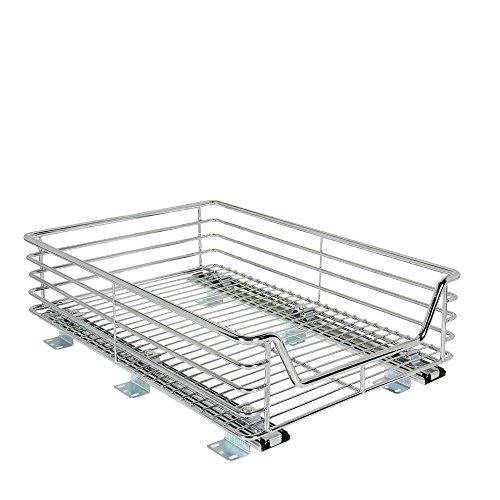 Household Essentials Extra-Deep Sliding Cabinet Organizer, Chrome, 14-1/2-Inch (Kitchen Cabinet Storage Sliding compare prices)