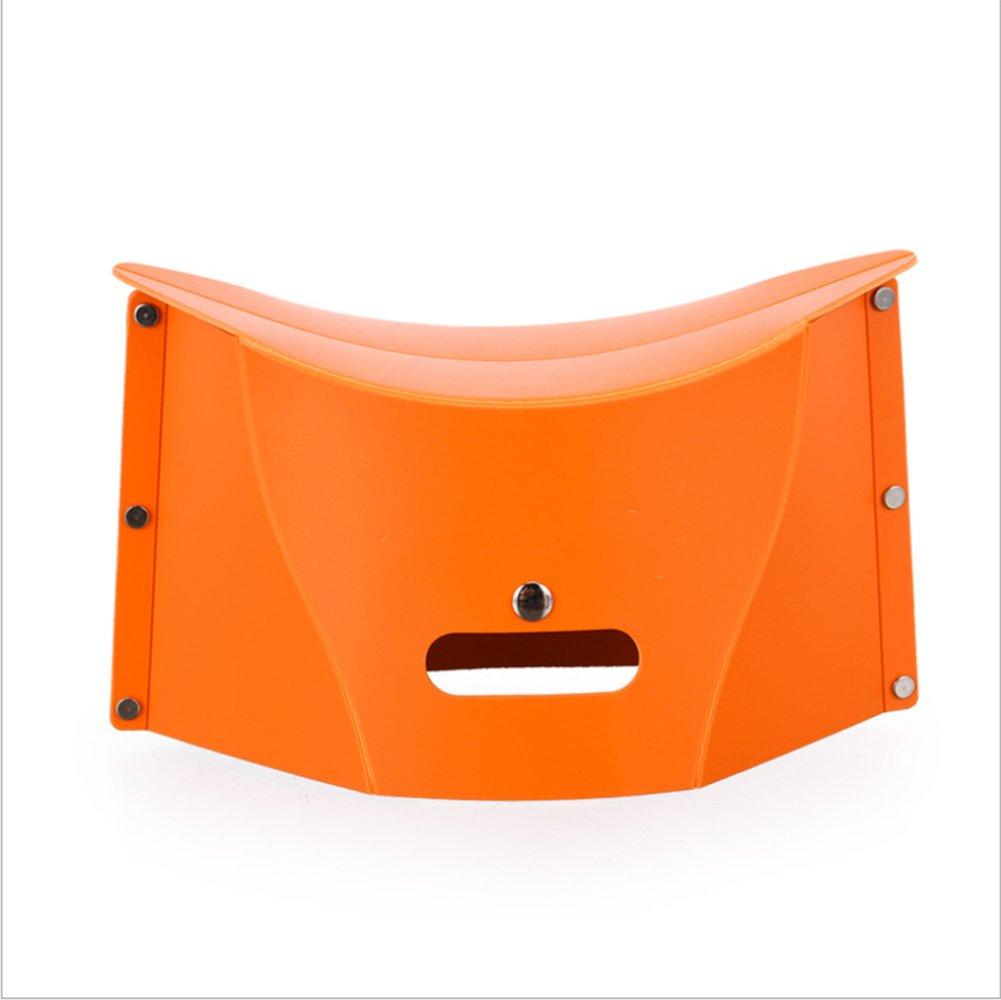 YMXLJJプラスチック折りたたみスツールポータブル釣りスツール収納バッグ多機能超軽量子供スツールオレンジ B07CNSMNZZ   2pieces