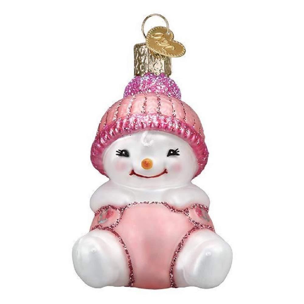 Old World Christmas Snow Baby Girl
