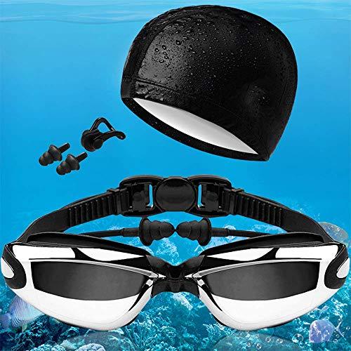 De Adultos Diseñados Los Gafas Nariz Oídos para Natación Antivaho Clip para WFFH Gafas Anti para Tapones Correa UV Sin La Espejo De De Ajustable Fugas Natación 7xqg4