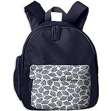 Watercolor Leaves Durable Book Kid' Bag For Boy School Backpacks