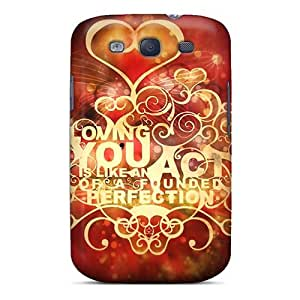 Galaxy S3 Case Cover - Slim Fit Protector Shock Absorbent Case (loving You)