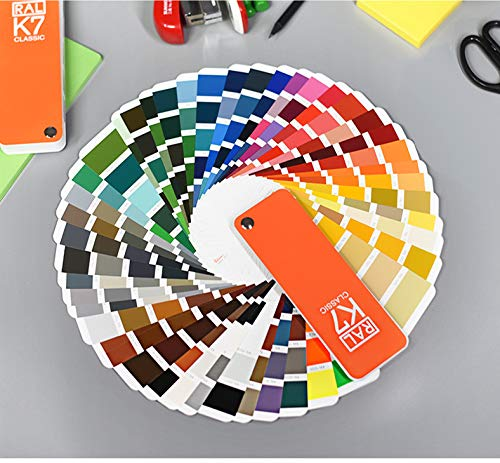 - RAL Color Bridge Guide Uncoated,RAL Coated & Uncoated K7 Formula Guide Standard Set,RAL-K7 Metallics Coated Guide 2019,Ultimate 3-in-1 Color Tool: - 213 Color Cards with Numbered Swatches