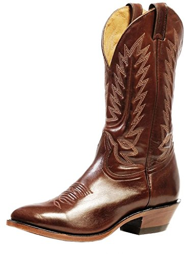 Bottes américaines - bottes western BO-4238-72-E (pied normal) - Homme - Marron