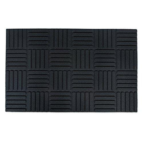 "J & M Home Fashions Floor Mat Parquet 17"" X 27"" Rubber"