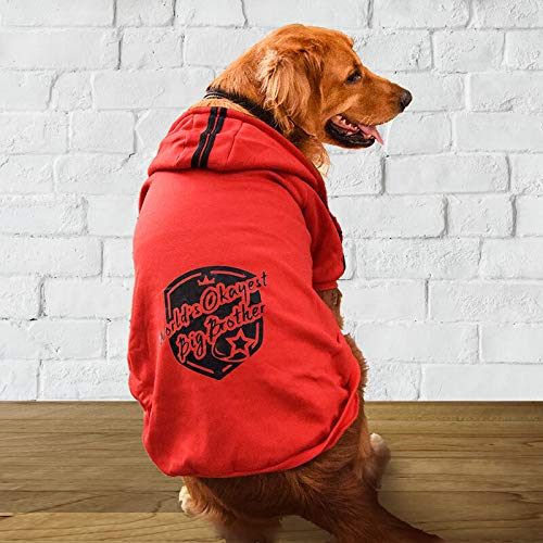 WATFOON Male Pet Winter Soft Clothes Large Dog Outdoor Warm Hoodies Vest T Shirt Coat Sweater Apparel Outfits Medium Dogs Weekend Parties Shirts, Great Years Gift for Your Pets ()