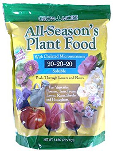 Grow More 7431 All Season's Fertilizer 20-20-20, - Plant Purpose Food All Grow