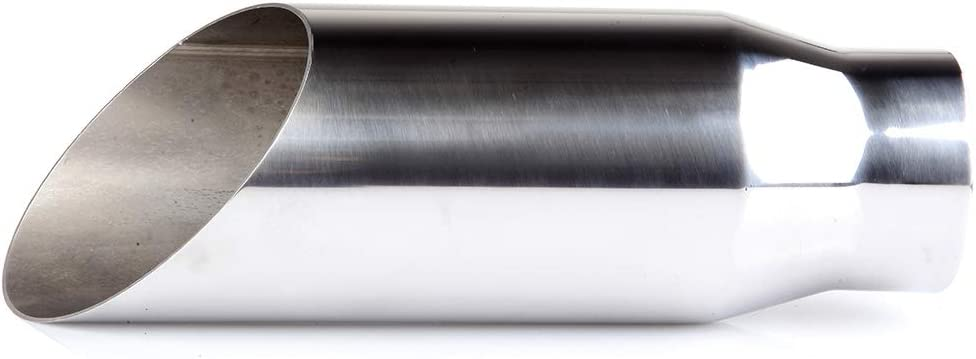 ECCPP Diesel Exhaust Tip 3 Inlet 4 Outlet Exhaust Tips 12 Long Mirror Silver Stainless Steel Exhaust Tailpipe
