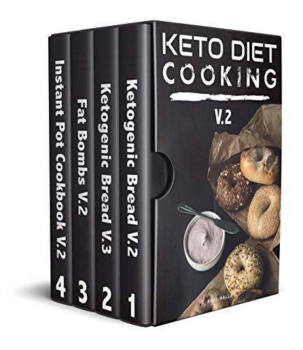 Keto Diet Cooking For Beginners: 4 manuscripts: A complete Guide for Ketogenic Diet Cooking Bread, Baking, Fat Bombs & Pressure Cooker Recipes: 155 Low-Carbs ... Cooker, Ketogenic Bread, Fat Bombs Book 2) by Anas Malla