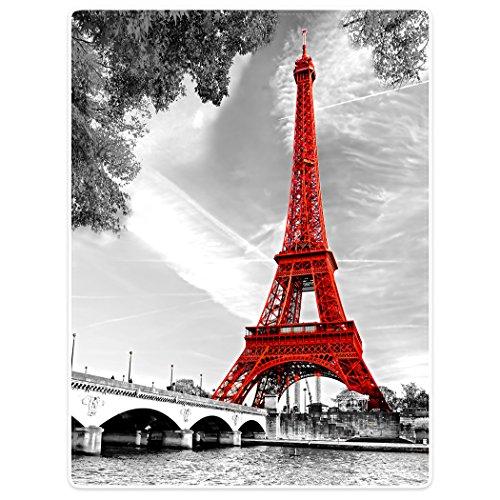 Blankets Soft Warm Sofa Bed Throw Blanket City Landmark Paris Eiffel Tower Red 60