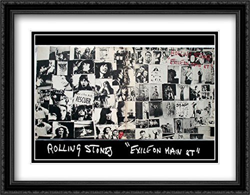 Rolling Stones, exile on main street 2x Matted 40x28 Large Black Ornate Framed Art Print by Robert - Street Galleria Main
