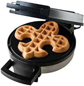 Fleur De Lis Shaped Belgian Waffle Maker Non-stick Waffle Iron | Works Perfectly for Chaffles, Gluten Free or Paleo Pancake And Waffle Mix