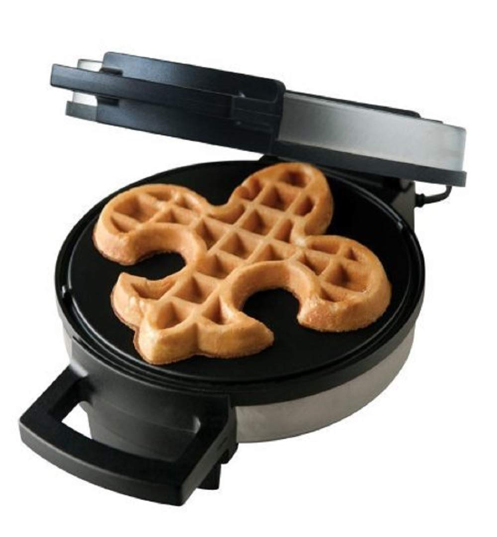 Fleur De Lis Belgian Waffle Maker | High Quality Non-stick Waffle Iron | Works Perfectly for Chaffles, Gluten Free or Paleo Pancake And Waffle Mix