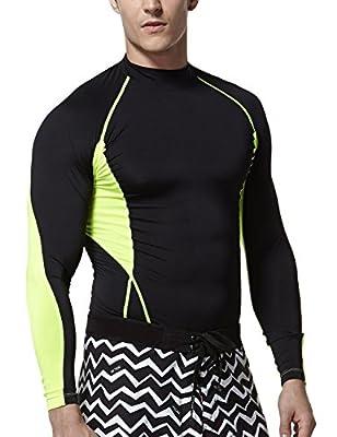 Tesla Men's Mock Long-Sleeved T-Shirt Cool Dry Compression Baselayer MUT12/T11/T01