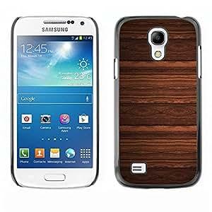 Caucho caso de Shell duro de la cubierta de accesorios de protección BY RAYDREAMMM - Samsung Galaxy S4 Mini i9190 MINI VERSION! - Wallpaper Design Wood Imitation Brown