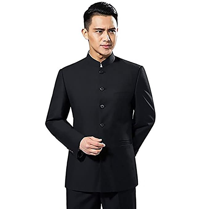 YOUMU Men s Chinese Traditional Uniform Chinese Tunic Suit Two Piece  Amazon .ca  Clothing   Accessories 9914006ea