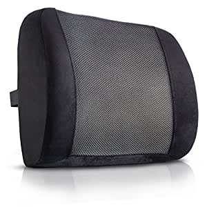 Amazon Com King Comfort Lumbar Support Pillow Deluxe Lower Back Support Cushion For Chairs For Low Back Pain Relief Best For Office Chair