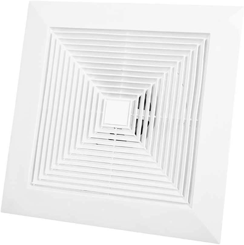Extractor de baño, ventilador de extractor de cocina, ventilador de ventilador, ventilador de una sola velocidad, instalación del lado del techo, ventilador de escape de baño (tamaño: 340 * 340mm)