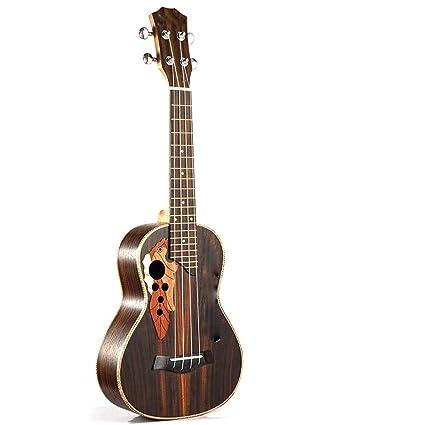 ZXZX Ukulele Ukulele Tenor De Concierto 23 Pulgadas Guitarra Eléctrica 4 Cuerdas Ukelele Guitarra Handcraft Uke