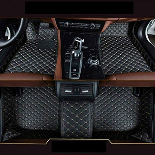 (8X-SPEED Custom Car Floor Mats Fit for BMW 6 Series 640i 650i 2011-2016 4-Doors Full Coverage All Weather Protection Waterproof Non-Slip Leather Liner Set Black )