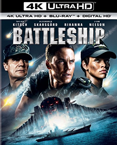 4K Blu-ray : Battleship (With Blu-Ray, Ultraviolet Digital Copy, 4K Mastering, Snap Case, Slipsleeve Packaging)