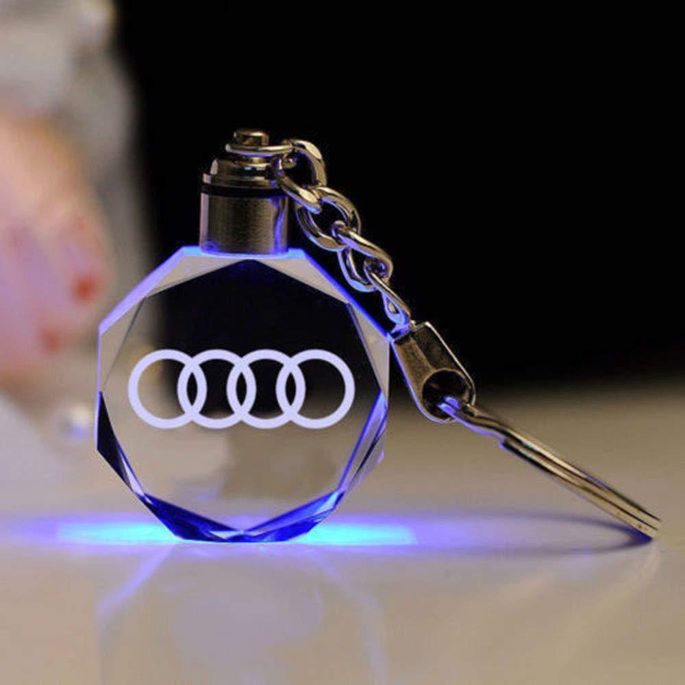 Fitracker 2018 de voiture porte-cl/és Accessoires Cristal LED /à changement de lumi/ère de voiture porte-cl/és avec bo/îte cadeau
