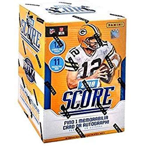 2018 Score NFL Football Cards - Factory Sealed Blaster Box with 132 Cards & AUTOGRAPH or MEMORABILIA Card! Look for Rookies & Auto's of Baker Mayfield, Saquon Barkley & More!