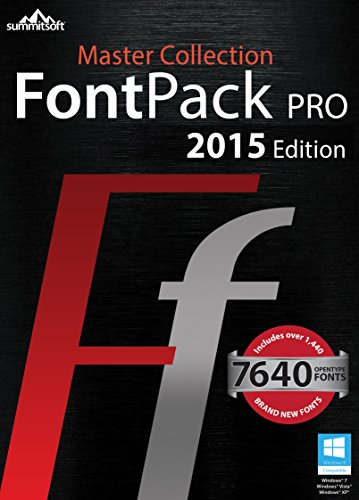 Font Pack Pro Master Collection for PC [Download] by Summitsoft