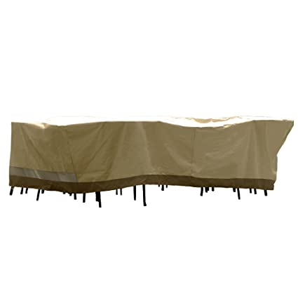 Wonderful Patio Armor Deluxe Rectangular Table And Chair Set Cover