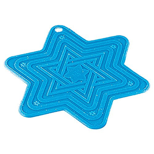 Star of David Silicone Trivet - Heat Proof Magen Dovid Pot Holder and Tray - Protects Counters, Tables and Tablecloths - by The Kosher Cook (Pan Iced Cold Table Food)