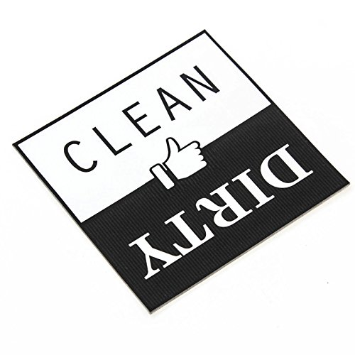 Best In Auto Dishwasher Magnet Decal Clean Dirty Indicator Durable Thumbs Up Down Waterproof]()