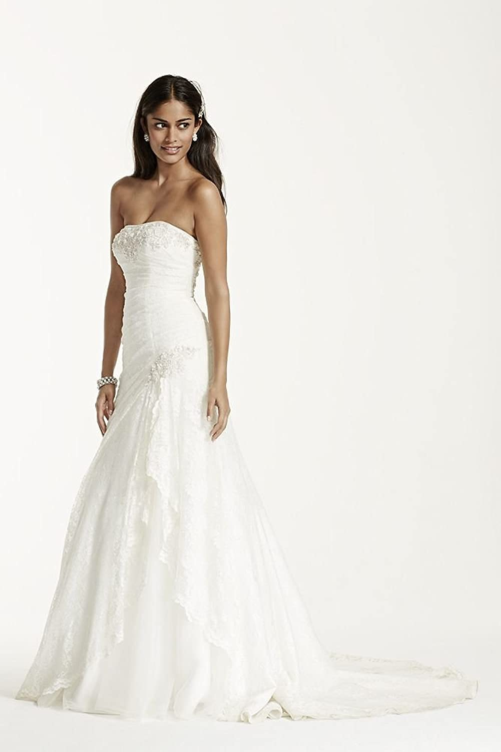 SAMPLE: Strapless Lace A-line Gown with Side Split Style ...