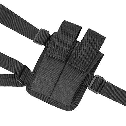 MLMLH Holster d'épaule - Étui Noir Durable pour Pistolet à bandoulière Étui réglable avec étui pour Magazine 4