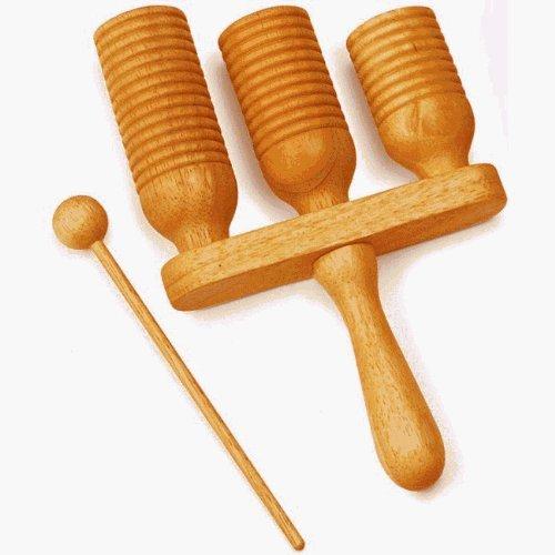 Wooden Three-Row Agogo Bell by Meinl