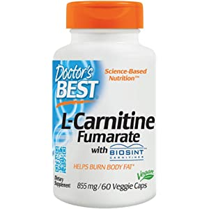 Doctors Best L-Carnitine Fumarate, Non-GMO, Vegan, Gluten Free,