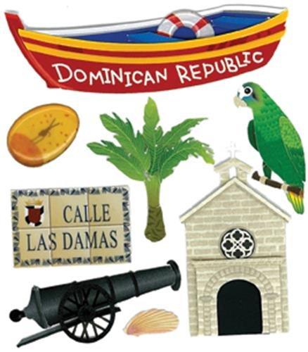 Jolee's Boutique Dominican Republic Dimensional Stickers (Dominican Republic Scrapbooking)