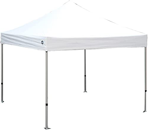 Keymaya 10 x20 Ez Pop Up Canopy Tent Commercial Instant Shelter Canopies Bonus Heavy Duty Weight Bag 6-pc Pack White