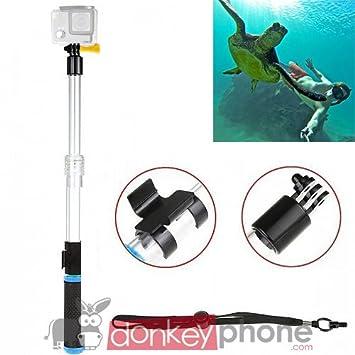 Donkeyphone - Soporte MONOPOD MONOPIE Flotador ACUÁTICO Palo Selfie Extensible para Cámaras GOPRO Hero 3/