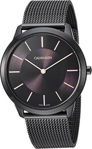 Calvin Klein Mens Minimal Watch - K3M21421 Black One (Calvin Klein Mens Bracelet)