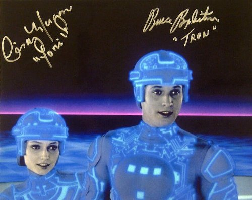 Bruce Boxleitner (TRON) & Cindy Morgan (YORI) Dual Autographed 10×8 Color Movie Photo