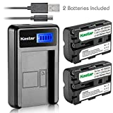 Kastar Battery (X2) & LCD Slim USB Charger for Sony NP-FM500H, NP-FM500 and Sony Alpha SLT A57 A58 A65 A77 A77V A77II A99 A350 A450 A500 A550 A700 A850 A900 CLM-V55 DSLR Camera & VG-C77AM Grip