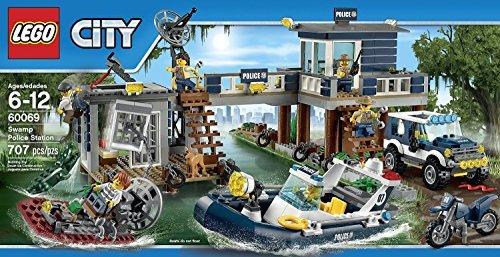 LEGO City Police Swamp Police Station (707pcs) Figures Building Block Toys