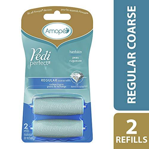Amope Pedi Perfect Electronic Foot File Refills, 2 Count, Regular Coarse
