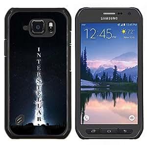 LECELL--Funda protectora / Cubierta / Piel For Samsung Galaxy S6Active Active G890A -- Interestelar --