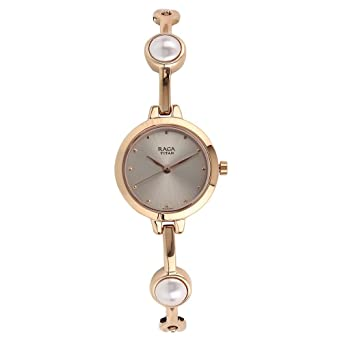 Titan Analog Rose Gold Dial Women S Watch 2576wm01