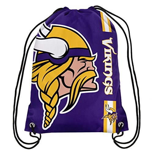 Minnesota Gear Vikings (NFL Minnesota Vikings Big Logo Drawstring Backpack)