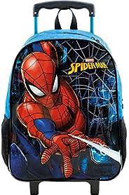 Mala Escolar com Rodas 14, Marvel Homem Aranha, 8681, Azul