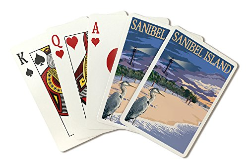 Sanibel Island, Florida - Lighthouse (Playing Card Deck - 52 Card Poker Size with Jokers) by Lantern Press