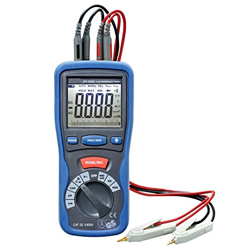 StatNY Professional CEM DT-5302 High-Accuracy Kelvin 4-Wires Milliohm Meter 4000 counts (High Resolution Milliohm Meter)