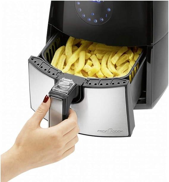ProfiCook PC-FR 1147 H Solo Independiente Hot air fryer 2.5L 1500W Negro, Acero inoxidable - Freidora (Hot air fryer, 2,5 L, 2,5 L, 80 °C, 200 °C, Solo): Amazon.es: Hogar